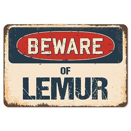 Amazon.com: Beware of Lemur Rustic Sign   Rustic, Distressed ...