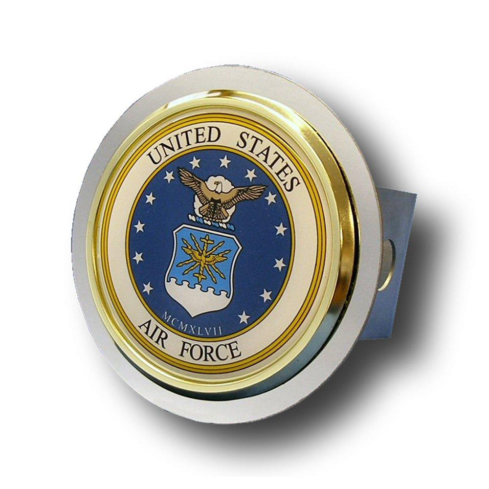 US Air Force Chrome Trailer Hitch Plug