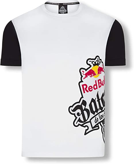 Red Bull Batalla Sideprint Camiseta, Blanco Hombre X-Large Top, Batalla de los Gallos Hip Hop Freestyle Original Ropa & Accesorios: Amazon.es: Ropa y accesorios