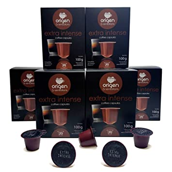 Nespresso Compatible Capsules - 120 Pods Pack - Extra Intense Expresso pods for Nespresso full compatible