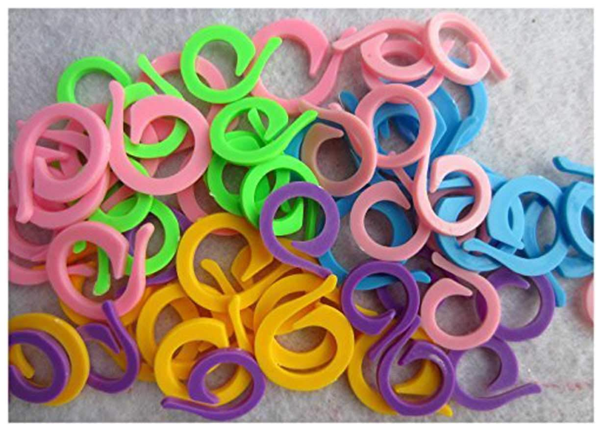 Knitting Stitch Counter - LeBeila Split Stitch Marker Rings Multi-Colored Crochet Stitch Markers Clip (120, Mixed) LBL-9IIS4-11783