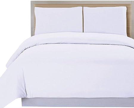 DHestia Hostelería - Funda Nórdica para Edredón Blanca Hotel 50% Algodón 50% Poliéster (230x240 cm - Cama 135): Amazon.es: Hogar