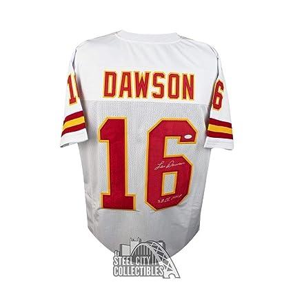 6111714d6 Len Dawson SbMVP Autographed Signed Kansas City Chiefs Custom White ...