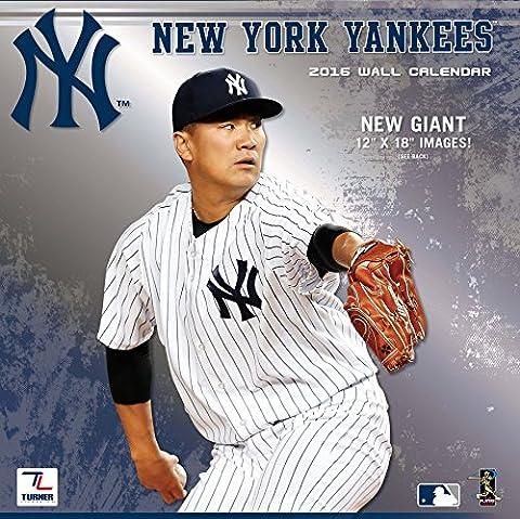 Turner New York Yankees 2016 Team Wall Calendar, September 2015 - December 2016, 12 x 12