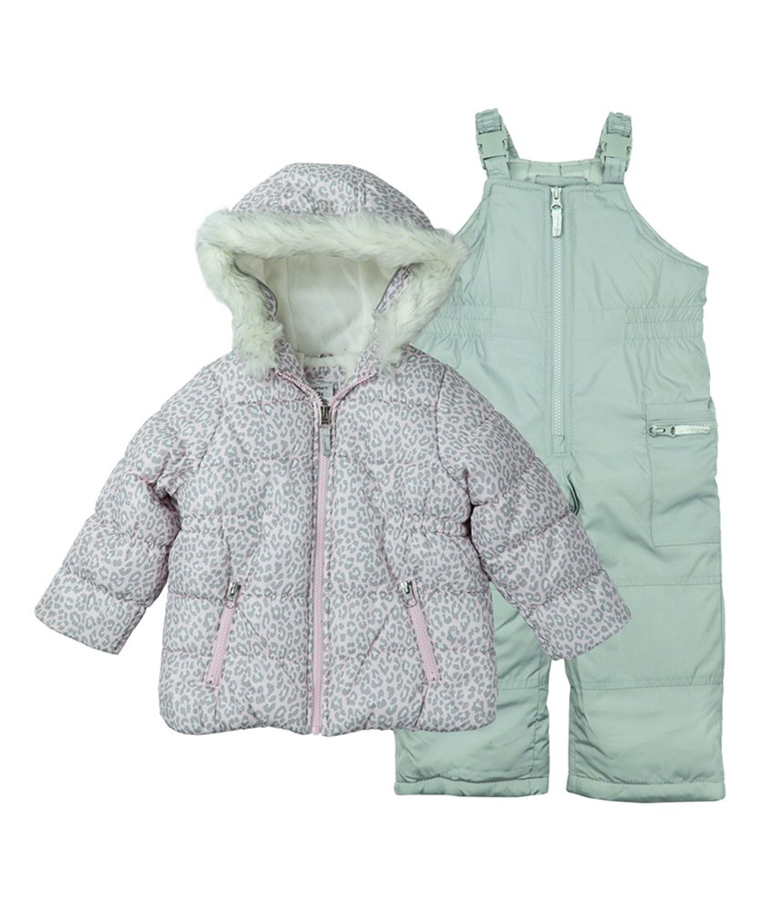 7df69515d743 Carters-Little-Girls-2-Piece-Heavyweight-Printed-Snowsuit-Cozy-Pink ...