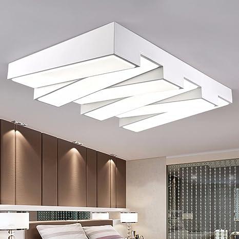 JRBB Salón LED lámpara de techo de hierro moderno ...