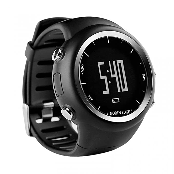 c0d90506f4e6 NORTH EDGE NORTH EDGE Mens Digital Wristwatch GPS Running Watch Waterproof  Smart Activity Fitness Tracker: Amazon.in: Sports, Fitness & Outdoors
