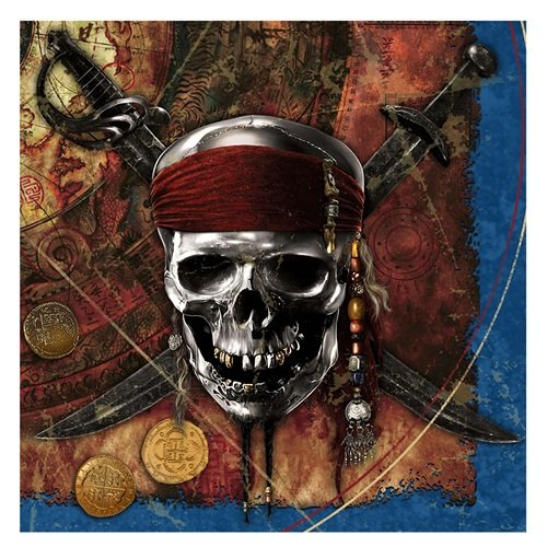 Pirates of the Caribbean 'On Stranger Tides' Lunch Napkins - Lunch Napkins Pirate