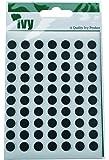 Ivy Stickers 232660 - Pegatinas con forma de círculo (8mm), color negro