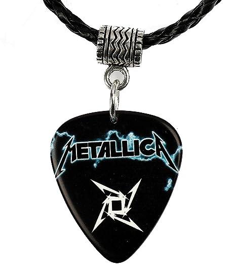 Collar de púa de guitarra con logo de Metallica: Amazon.es ...