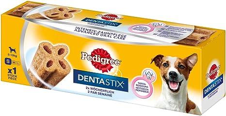 Pedigree DentaStix Advance 2x Wöchentlich Hundeleckerli für kleine Hunde < 10kg, Kausnack mit Huhn- und Rindgeschmack gegen Z