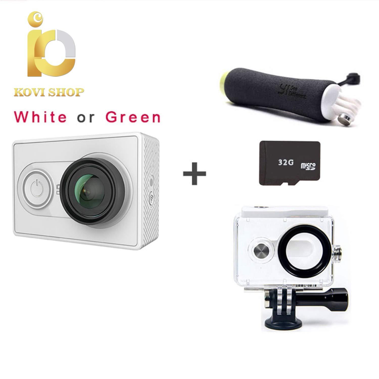 Kovishop Action Camera 1080p Sport cam Camera Outdoor Kamera microsd tf Memory Card Support app WiFi Remote Control Cameras (01, White)
