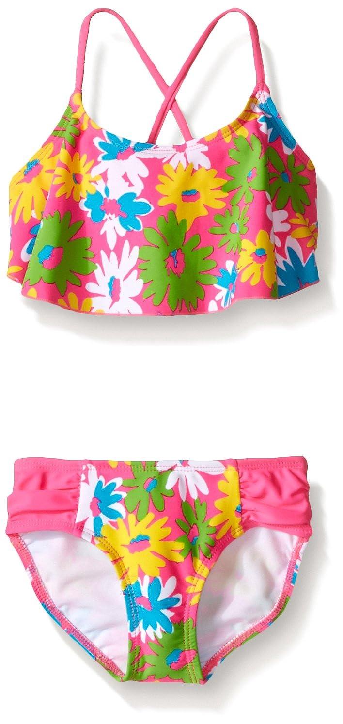 Kanu Surf Girls' Allison Flounce Bikini Swimsuit 356C