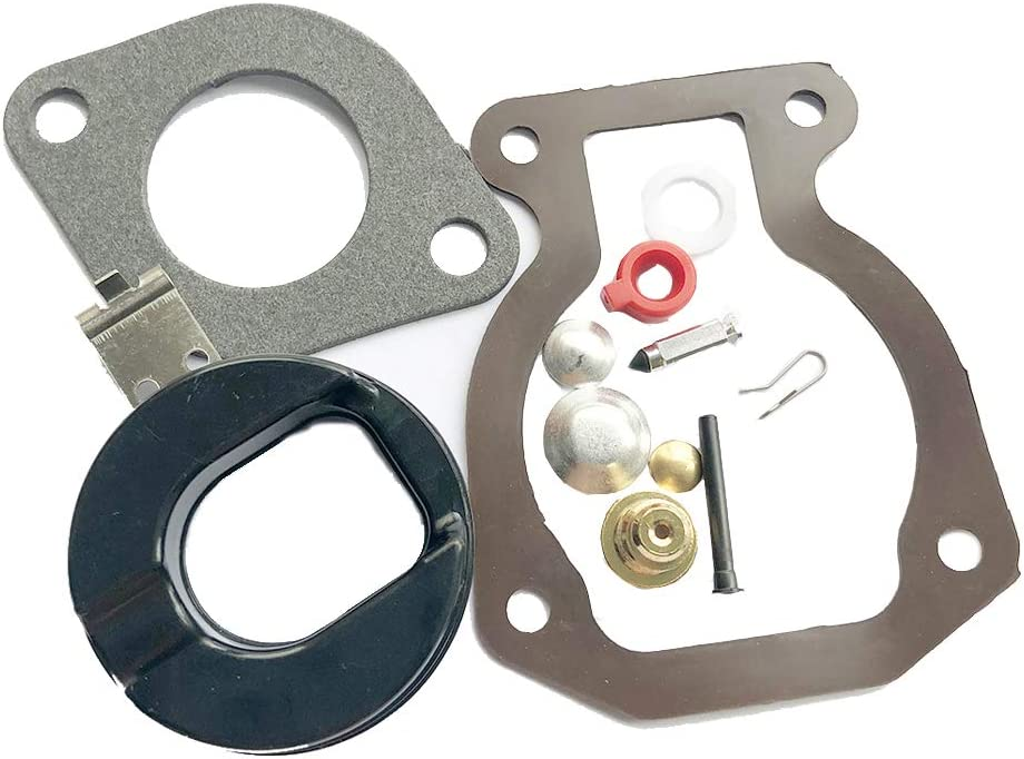 MTUOSALE Carburetor Carb Repair Kit Float For Johnson Evinrude 9.9 HP 15 HP 1974-1988 398453 Rebuild Replacement Parts