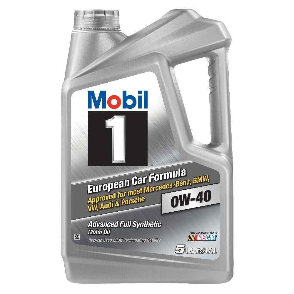 Mobil 1 120760 Synthetic Motor Oil 0W-40, 5 Quart, 3 Pack