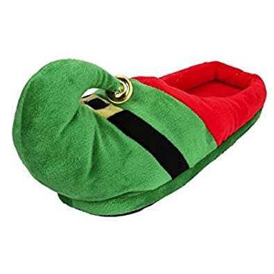 4baa2184f786 Image Unavailable. Image not available for. Color  3D Funny Home Slippers  Women Men Kids Christmas Costume Santa Elf ...