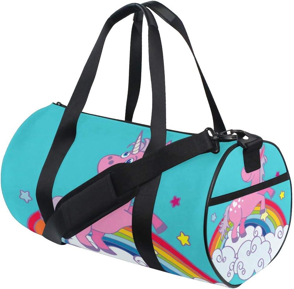 Duffel Bags Floral Unicorn Womens Gym Yoga Bag Small Fun Sports Bag for Men