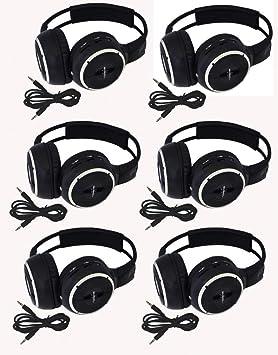 6 unidades de dos canal plegable ajustable Universal sistema de entretenimiento trasero infrarrojos auriculares 6 adicional