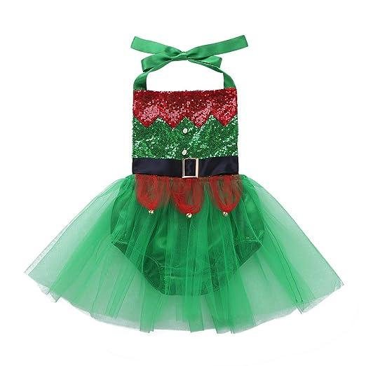 41f10e00c Amazon.com  CHICTRY Baby Girls  Christmas Holiday Santa s Little Elf ...