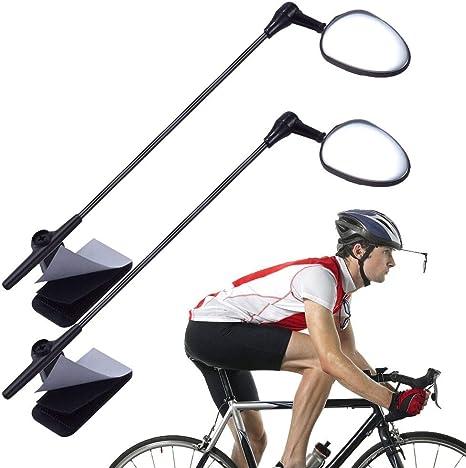 Bike Bicycle Cycling Riding Mirror Helmet Mount Rearview View Rear Eyeglass R0U8