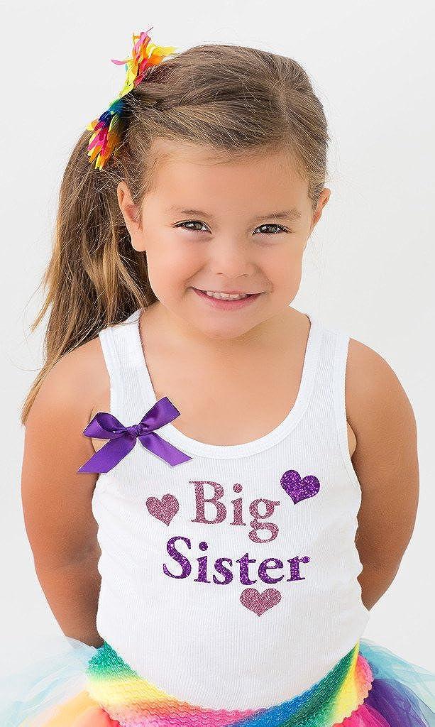 Bubblegum Divas Little Girls Big Sister Tank Top Shirt Love Hearts