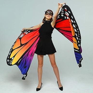 Alas de Mariposa, Impresión de Doble Cara Chal de Alas de Mariposa ...