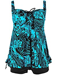 Women's Plus Size Bathing Suits Paisley Print Two Piece...