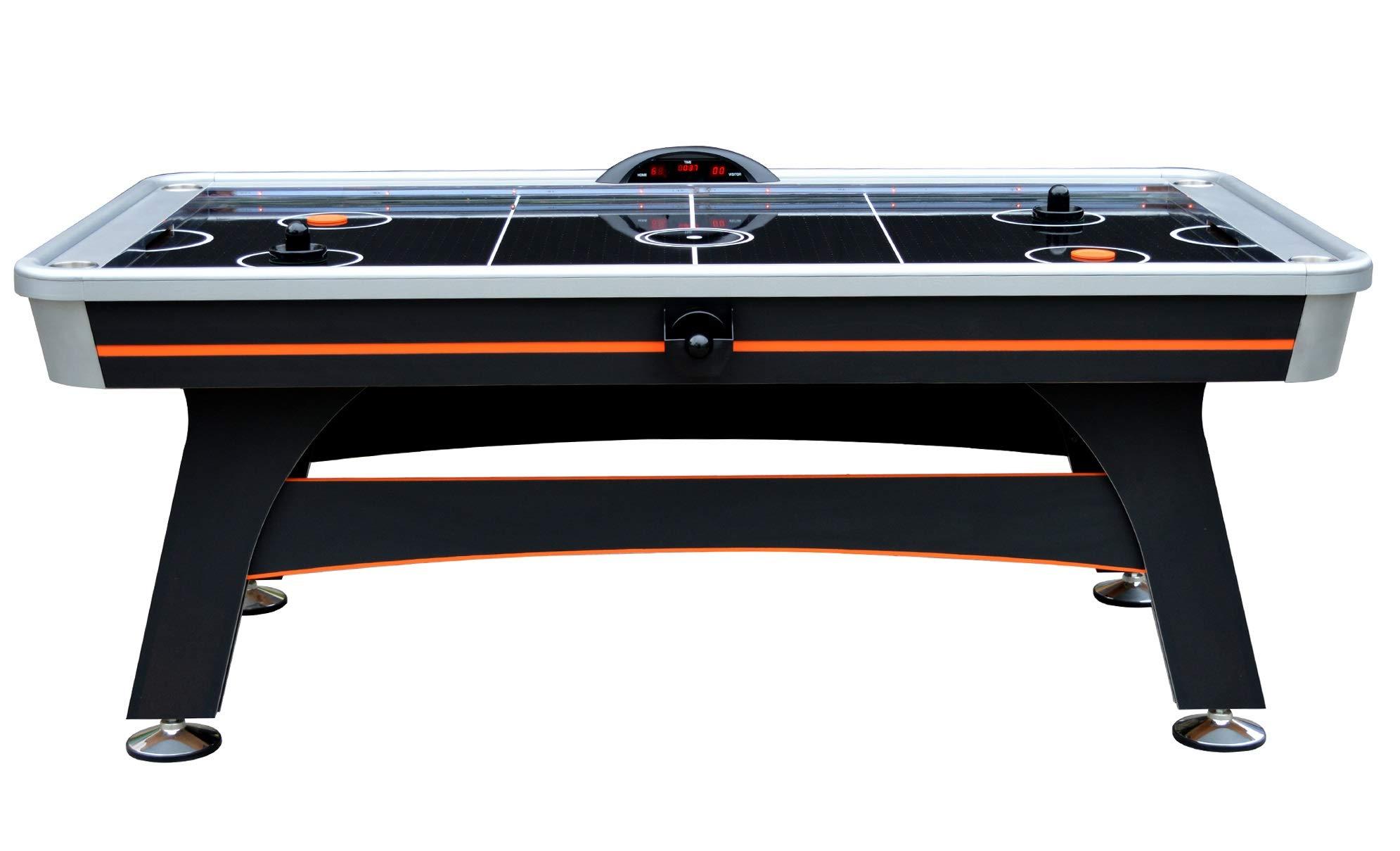 Hathaway Trailblazer 7' AIR Hockey Table, Black/Orange by Hathaway