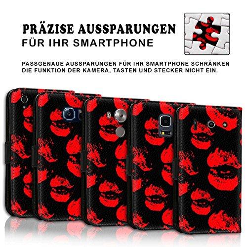 Wallet Book Style Flip Handy Tasche Case Schutz Hülle Schale Motiv Etui für Apple iPhone 6 / 6S - Design Flip MVD194