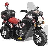 vidaXL Motocyclette enfant à batterie Noir moto électrique Enfant