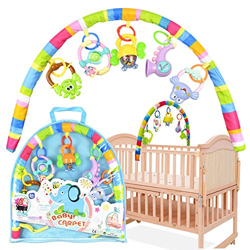 Cartoon Baby Crib Music Bed Bell Projection Toy Hanging Rota