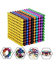 Q&Z 1000pcs 5mm Magic Blocks Sculpture Toys,Puzzle Construction 3D Sculpture Building Ball Toys Crafts with Storage Box for Developing Intelligence and Releases Stress