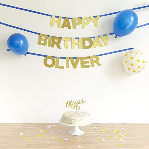 happy birthday wall banner custom name stylish handmade wall