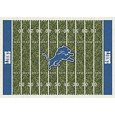 Milliken 4000019827 Detroit Lions NFL Team Home Field Area Rug, 5'4  x 7'8 , Multicolored