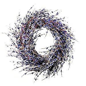 Faux Dried Lavender Floral Door Wreath Product SKU: HD223193 19