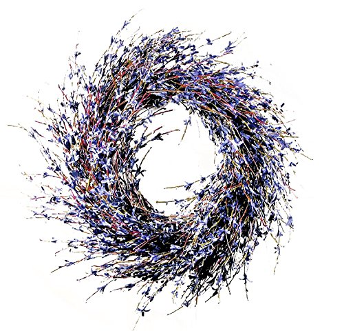 Faux Dried Lavender Floral Door Wreath Product SKU: ()