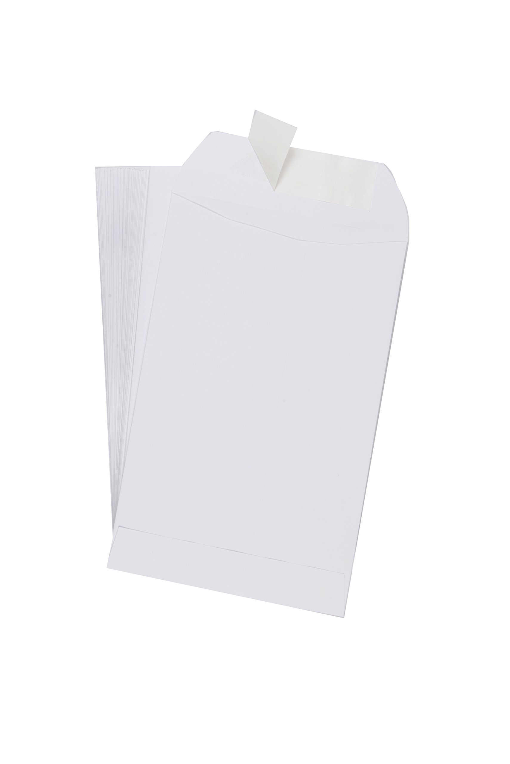 EnDoc Redi-Seal Catalog Envelopes – 6 x 9 Inch Bright White Open End Envelopes with Self Seal Closure – 28lb Heavyweight Paper Envelopes for Home, Office, Business, Legal or School – 250 Count