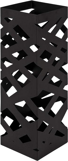 Haku M/öbel Porta-ombrelli 17 x 17 x 49 cm Tubo di Acciaio Nero