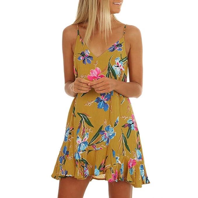71361e7d5011 HCFKJ 2018 Mode Gelb Damen Frauen O-Ansatz beiläufige Taschen-Sleeveless  über Knie-