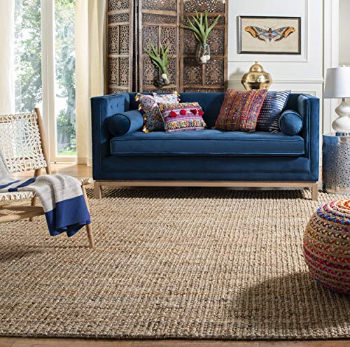 Safavieh Natural Fiber Collection NF447A Hand Woven Natural Jute Square Area Rug (6' Square)
