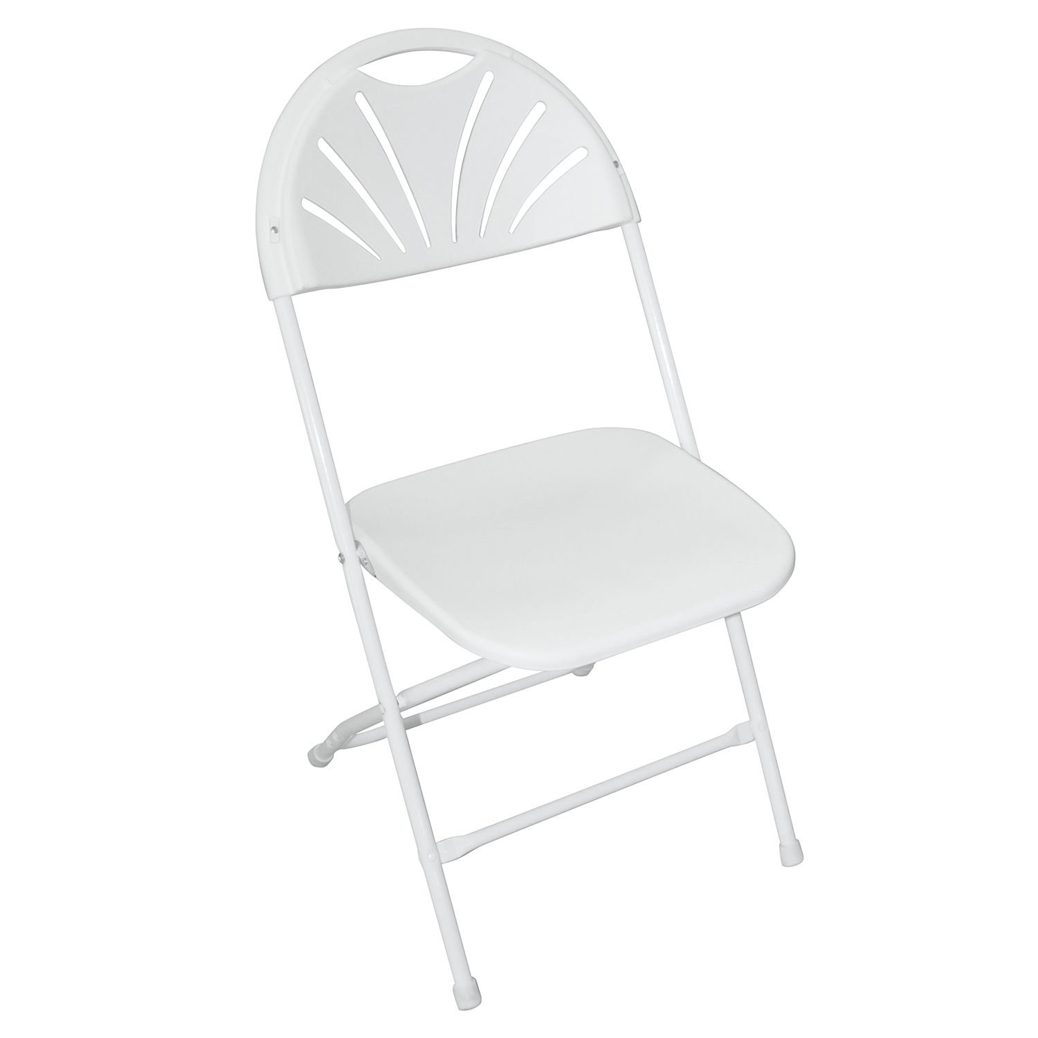 New 8PCS Sitting Chair Home School Class Study Wedding Foldable Molded Seat White