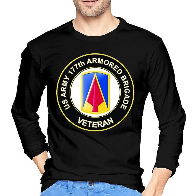 e1ba228a6 U.S. Army 177th Armored Brigade Veteran Men s Long Sleeve Cotton Jersey  Shirt