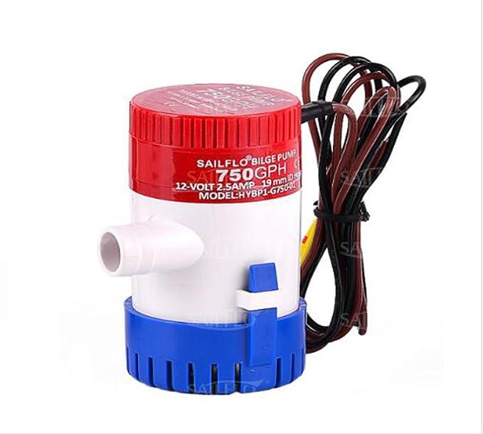 24 Volt 600GPH Automatisch Bilgenpumpe Wasserpumpe Lenzpumpe Bilgepumpe