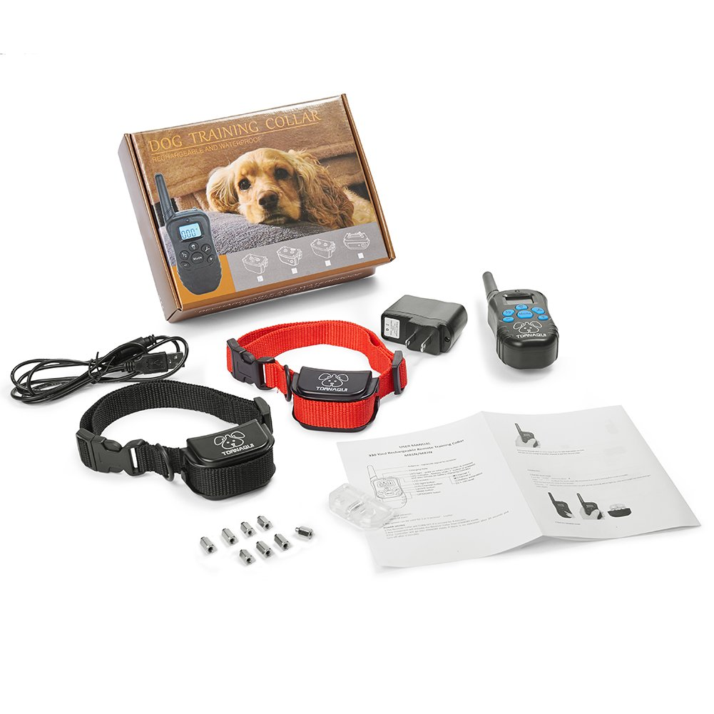 Tornaqui Dogs Shock Collar Training Anti-Bark Collar With Remote Rechargeable Beep Vibration Static Pets by Tornaqui (Image #8)