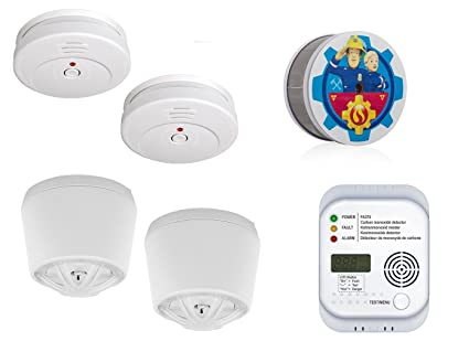 Smartwares de 2 Años de casa Juego de Alarma (Humo, Calor, Monóxido de