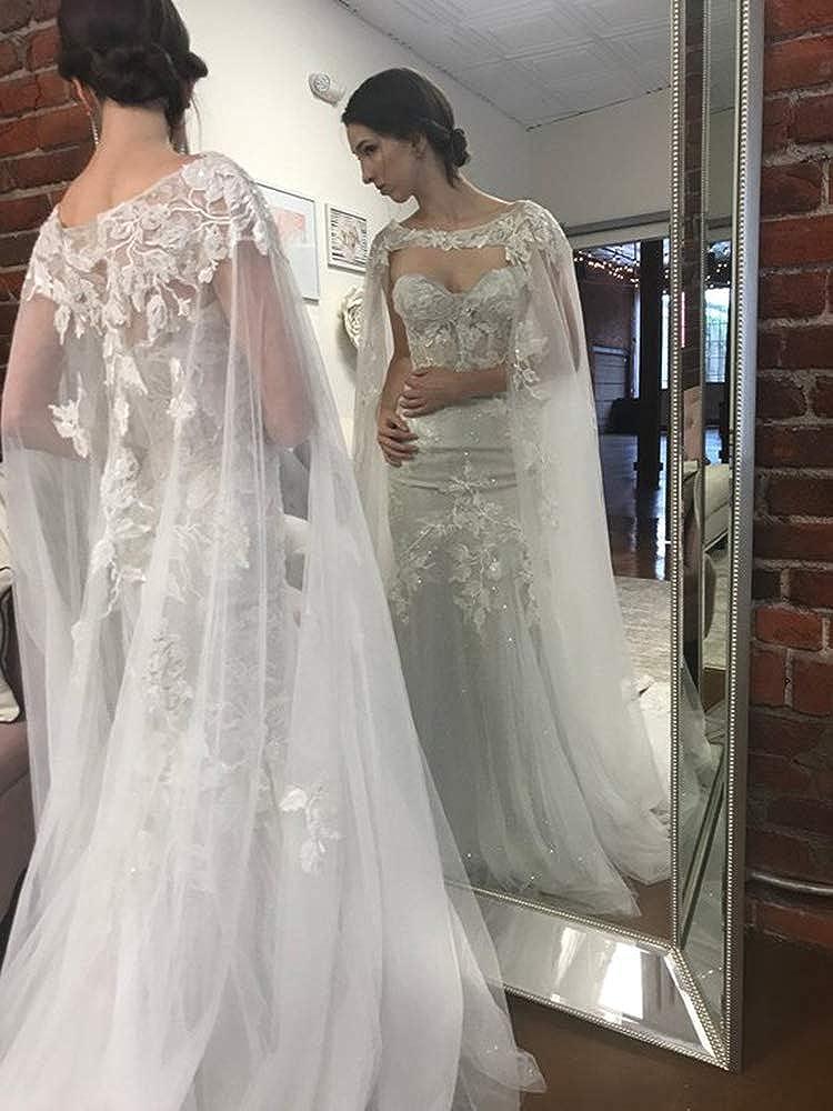 Amazon.com: Faithclover - Chaqueta de tul para novia, diseño ...