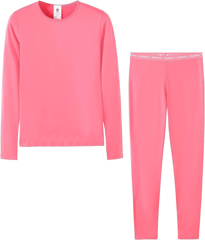 Ti Tiene al Caldo Senza Stress T-Shirt Maniche Lunghe /& Pantaloni Invernali B03 LAPASA Boy/&Girl Set Intimo Termico per Bambini e Bambine