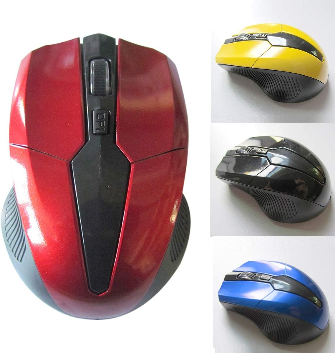 Yesbaby 2.4Ghz 800-1200-1600 DPI Mini Wireless Optical Gaming Mouse Mice/& USB Receiver for PC Laptop Color : Black
