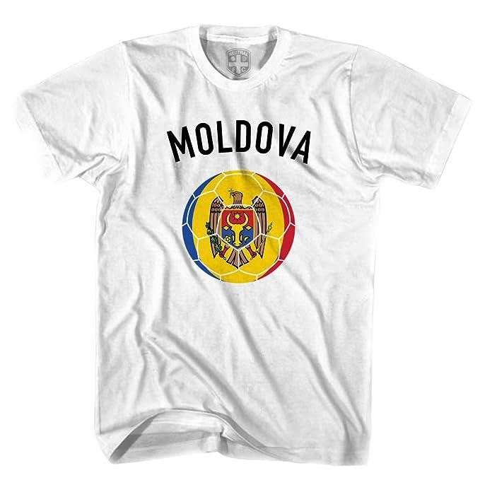 Moldova de balón de fútbol T-Shirt blanco blanco XL