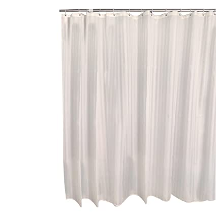 Deyard Waterproof Tub Shower Curtain With Hooks Mold Mildew Resistant Polyester Fabric Washable Sets